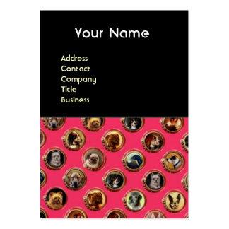 VICTORIAN ENAMELS /MINIATURE DOG PORTRAITS,Pink Large Business Card