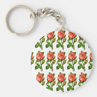 Victorian English Roses Keychain