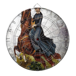 Victorian Equestrian Lady Riding Jumping Horse Dartboard