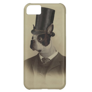 Victorian era boston terrier case for iPhone 5C