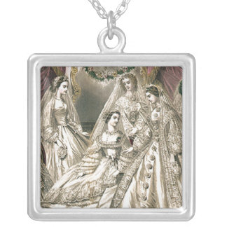 Victorian Era Brides Silver Plated Necklace