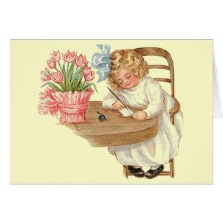 Victorian Era Child Illustration Card