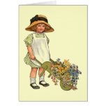 Victorian Era Child Illustration Card