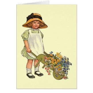 Victorian Era Child Illustration Stationery Note Card