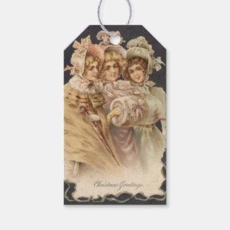 Victorian Era Fashion Vintage Christmas Gift Tags
