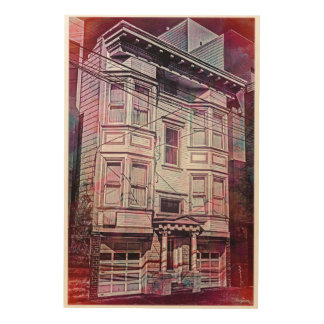 Victorian Era for a city dream MissionDistrict sfc Wood Wall Art