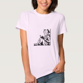 Victorian Era Girl Reading A Book Tee Shirt