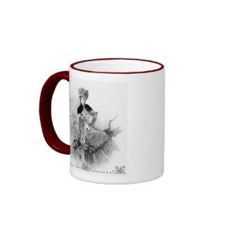 Victorian Era Lady Ringer Coffee Mug