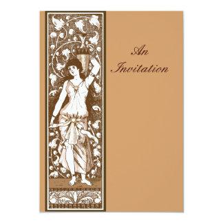 Victorian era old fashioned decorative panel 13 cm x 18 cm invitation card