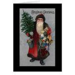 Victorian Era Santa Christmas Card