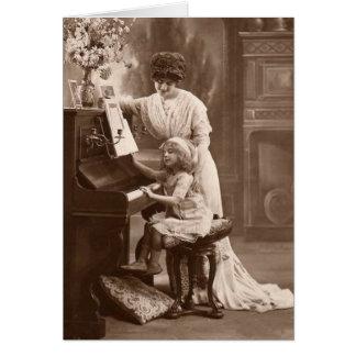 Victorian Era - The Piano Lesson Card