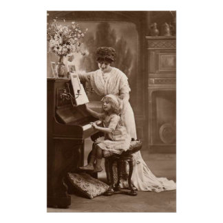 Victorian Era - The Piano Lesson Poster