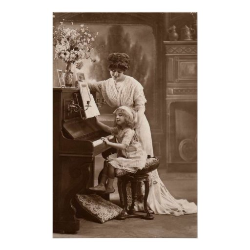 Victorian Era - The Piano Lesson Poster