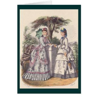 Victorian Era Women s Fashion Greeting Card