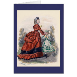 Victorian Era Women's Fashion Card