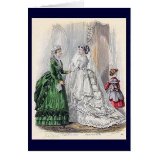 Victorian Era Women's Fashion Card