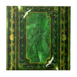 Victorian esmeralda del vintage del oro elegante azulejos cerámicos