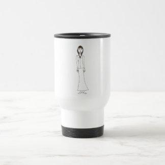 Victorian espeluznante taza de viaje de acero inoxidable