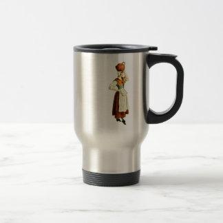 Victorian European Woman With Jug Travel Mug
