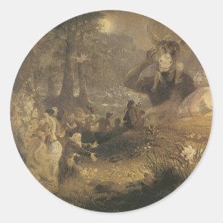 Victorian Faerie Sticker - Mid-Summer's Night