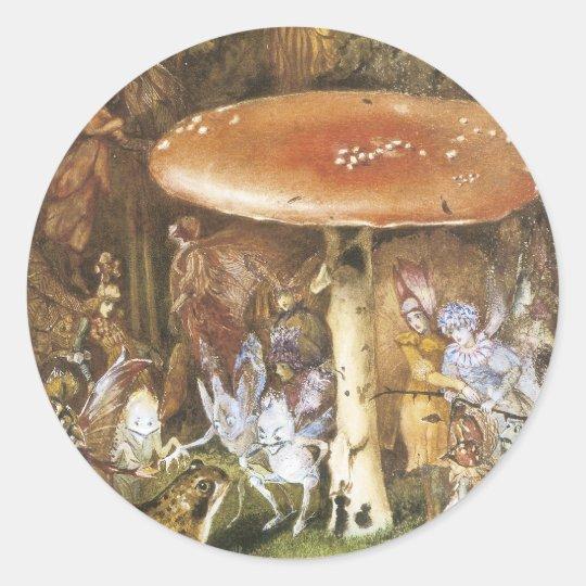Victorian Faerie Sticker -Mushroom