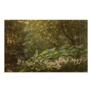Victorian Fairies, Under the Dock Leaves by Doyle Poster
