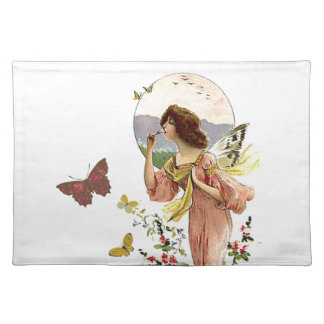 Victorian Fairy and Butterflies Placemat
