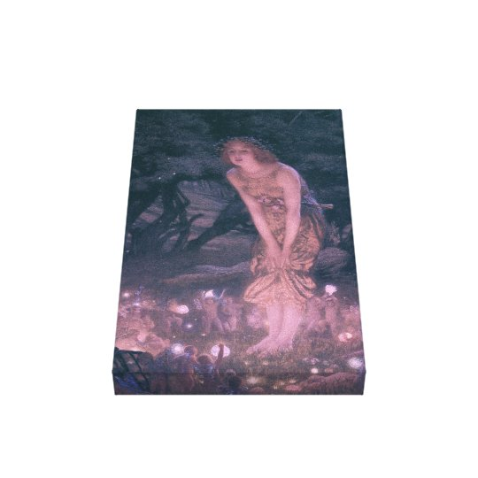 Victorian Fairy Ring Wrapped Canvas