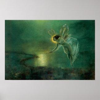 Victorian Fairy Spirit of the Night  Print
