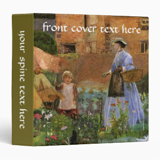 Victorian Family, A Garden in Cookham by Pinwell 3 Ring Binder