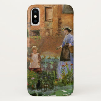 Victorian Family, A Garden in Cookham by Pinwell iPhone X Case