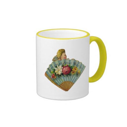 Victorian Fan Ringer Coffee Mug
