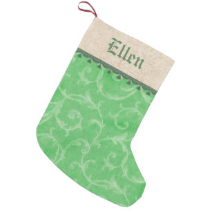 victorian fancy christmas small christmas stocking