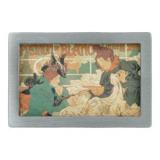 Victorian fashion store Art Nouveau French poster Belt Buckle