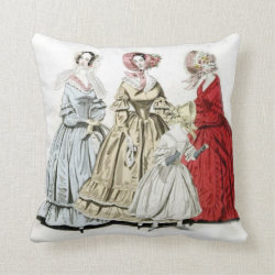 Victorian Fashion Throw Pillow