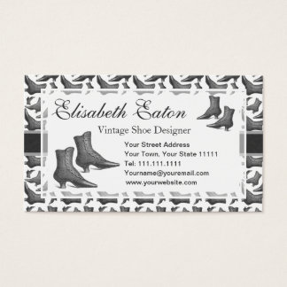 Victorian Fashion Vintage Style Boots Pattern Business Card
