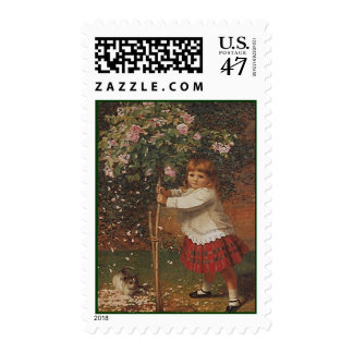 VICTORIAN FASHIONS GIRL MISS ROSE TREE STAMPS! POSTAGE