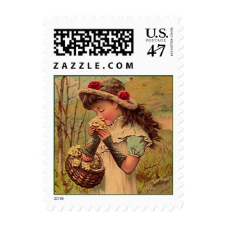 VICTORIAN FASHIONS Wild Flower Girl MAIL STAMPS! Postage