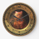 Victorian Fat Cat Clock