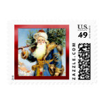 Victorian Father Christmas Postage Stamps