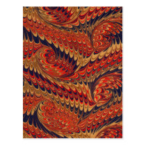 Victorian Feather Boho Bohemian Abstract Pattern Postcard