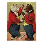 Victorian feliz, osos gay, de bailes del vintage postal