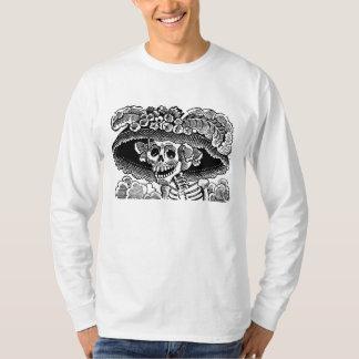 Victorian female skull skeleton José Posada T Shirt