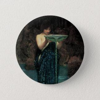 Victorian Fine Art, Circe Invidiosa by Waterhouse Button