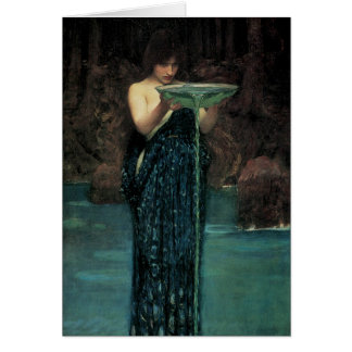 Victorian Fine Art, Circe Invidiosa by Waterhouse Greeting Card