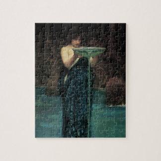 Victorian Fine Art, Circe Invidiosa by Waterhouse Jigsaw Puzzle