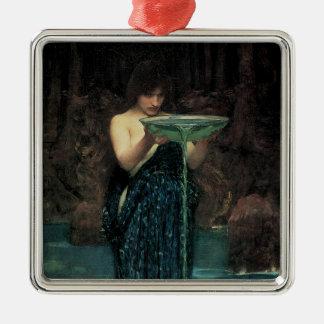 Victorian Fine Art, Circe Invidiosa by Waterhouse Metal Ornament