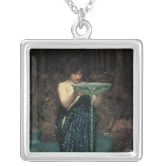 Victorian Fine Art, Circe Invidiosa by Waterhouse Silver Plated Necklace