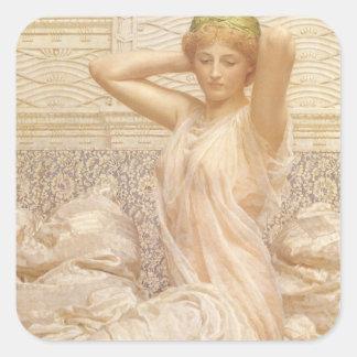 Victorian Fine Art, Silver by Albert Joseph Moore Square Sticker