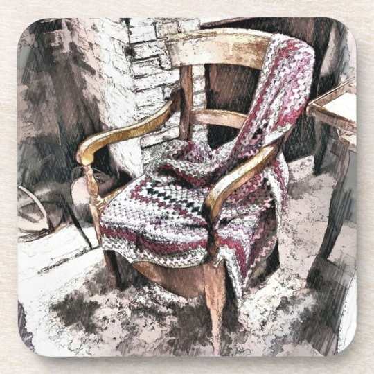 VICTORIAN FIRESIDE CHAIR DRINK COASTER